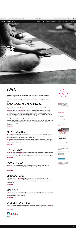 Yogini rebelle website | Design by Kaylynne Johnson - web & design | www.kaylynnejohnson.com
