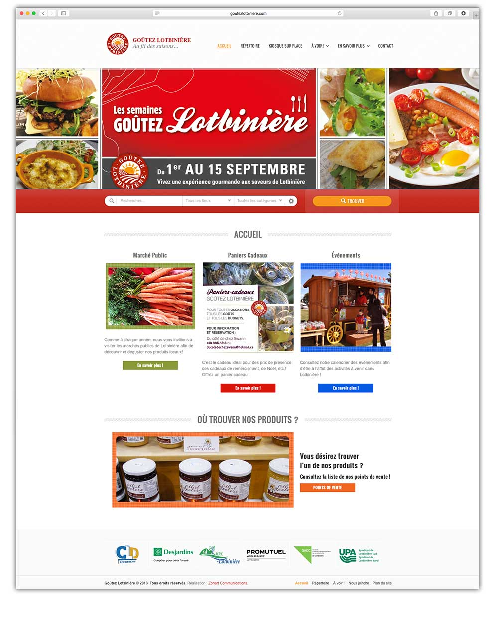 Goutez Lotbiniere - web | Design by Kaylynne Johnson - web & design | www.kaylynnejohnson.com