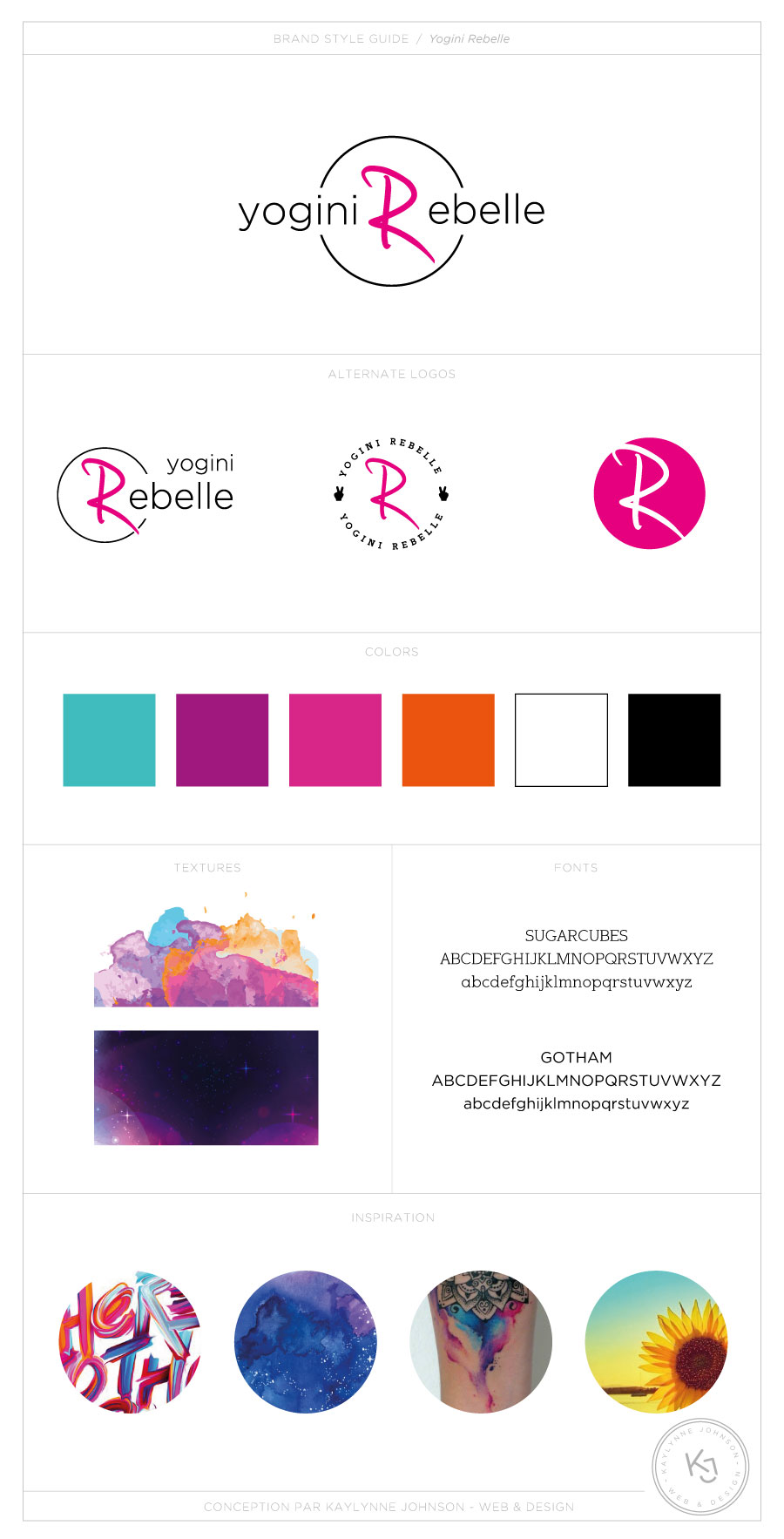 Yogini Rebelle - Branding | Design by Kaylynne Johnson - web & design | www.kaylynnejohnson.com