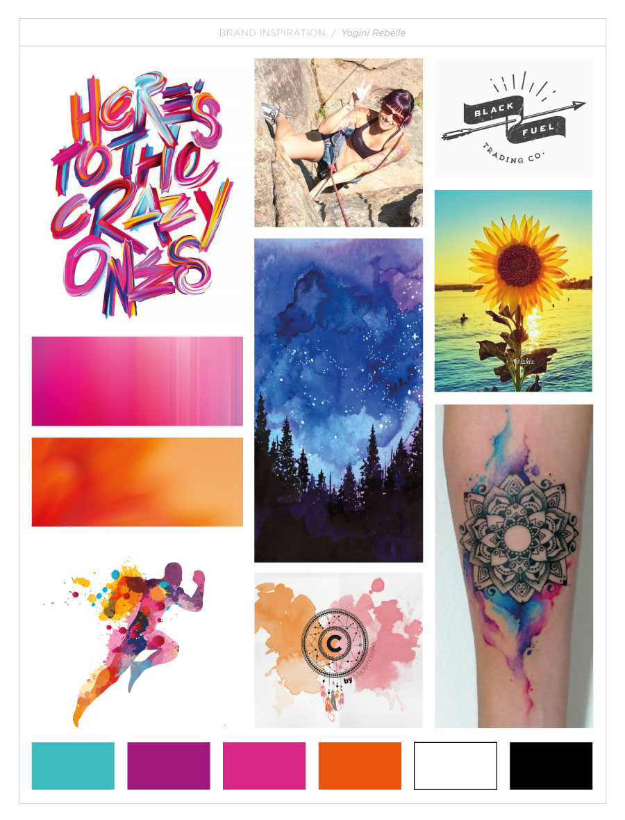 Yogini Rebelle - moodboard - Branding | Design by Kaylynne Johnson - web & design | www.kaylynnejohnson.com