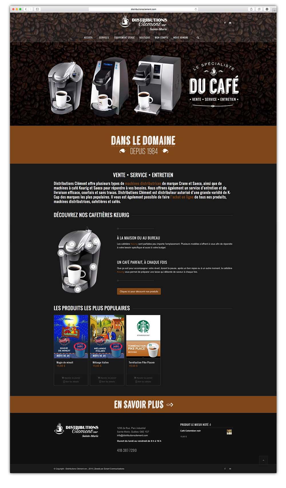 Distributions Clément - web - ecommerce | Design by Kaylynne Johnson - web & design | www.kaylynnejohnson.com