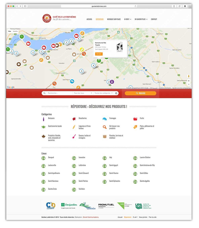 Goutez Lotbiniere - web | Design by Kaylynne Johnson - web & design | www.kaylynnejohnson.com