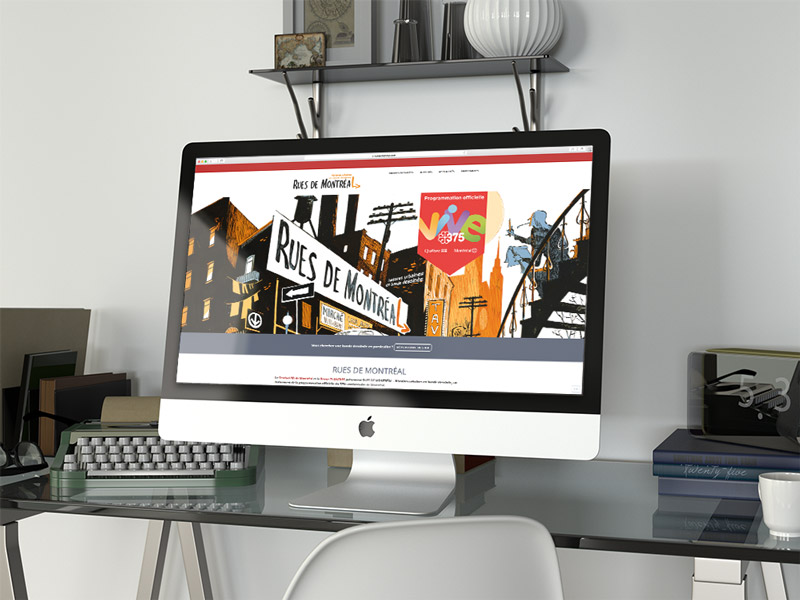 Site wordpress.com pour Rues de Montréal | Kaylynne Johnson - web & design | www.kaylynnejohnson.com