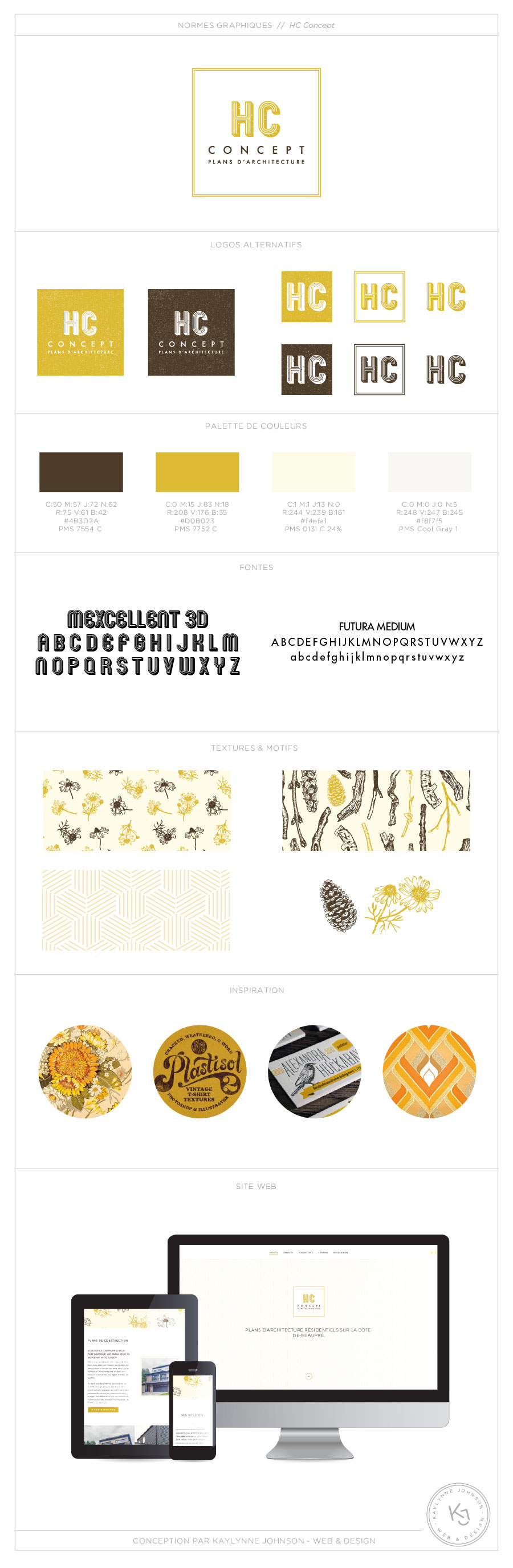 HC Concept - branding | Réalisé par Kaylynne Johnson - web & design | www.kaylynnejohnson.com