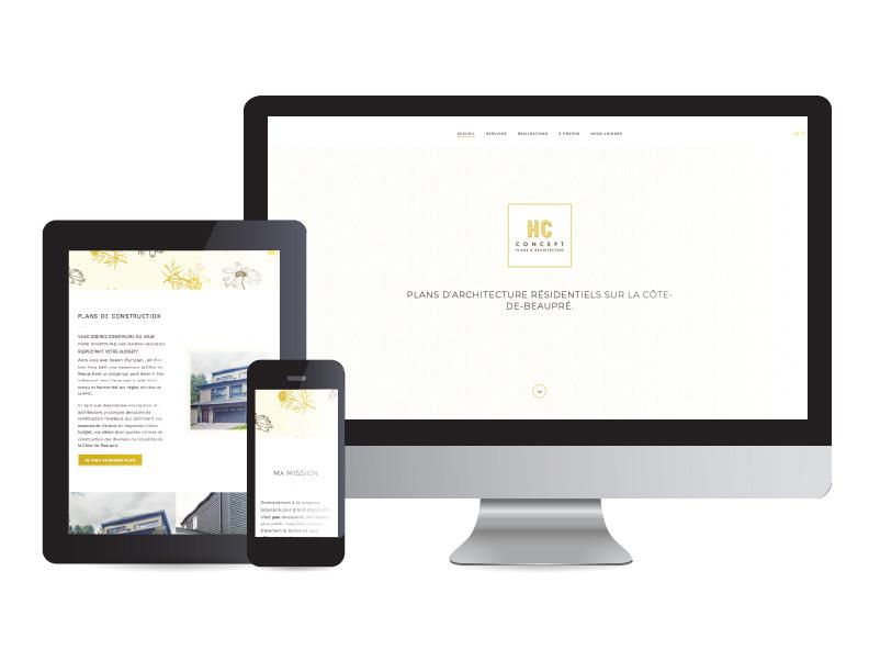 HC Concept - site web | Une réalisation de Kaylynne Johnson - web & design
